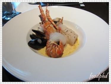 Seafood Platter in Saffron Sauce